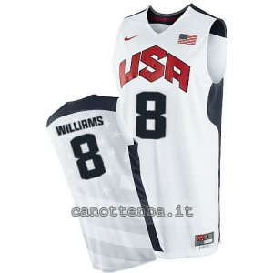 canotta nba deron williams #8 nba usa 2012 bianca