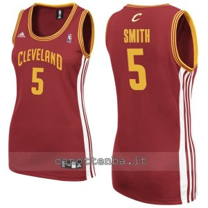 canotta nba donna jr smith #5 cleveland cavaliers rosso