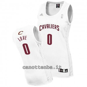 canotta nba donna kevin love #0 cleveland cavaliers bianca
