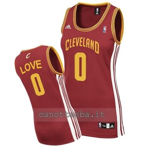 canotta nba donna kevin love #0 cleveland cavaliers rosso