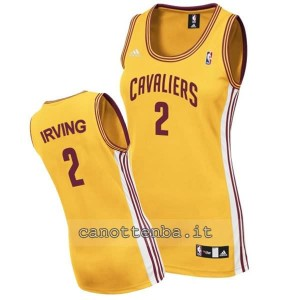 canotta nba donna kyrie irving #2 cleveland cavaliers giallo