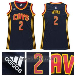 canotta nba donna kyrie irving #2 cleveland cavaliers navy blu