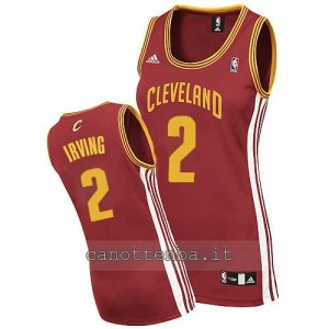 canotta nba donna kyrie irving #2 cleveland cavaliers rosso