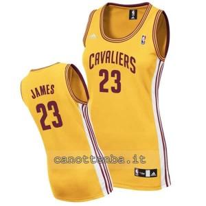 canotta nba donna lebron james #23 cleveland cavaliers giallo
