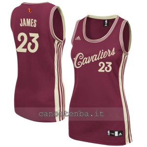 canotta nba donna lebron james #23 cleveland cavaliers natale 2015