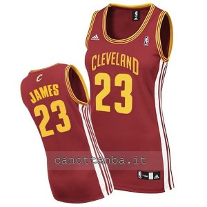 canotta nba donna lebron james #23 cleveland cavaliers rosso