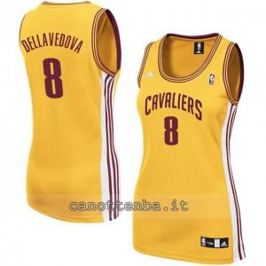 canotta nba donna matthew dellavedova #8 cleveland cavaliers giallo