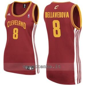 canotta nba donna matthew dellavedova #8 cleveland cavaliers rosso