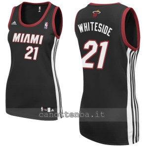 canotta nba donna miami heat hassan whiteside #21 nero