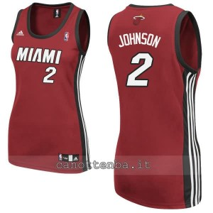 canotta nba donna miami heat joe johnson #2 rosso
