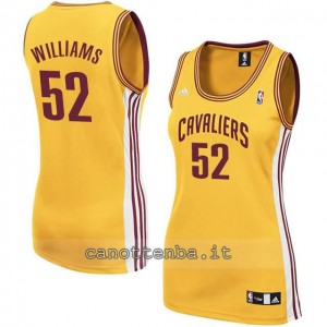 canotta nba donna mo williams #52 cleveland cavaliers giallo