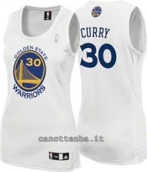 canotta nba donna stephen curry #30 golden state warriors bianca