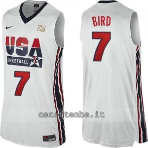 canotta nba larry bird #7 nba usa 1992 bianca