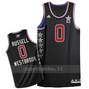 canotta nba russell westbrook #0 nba all star 2015 nero