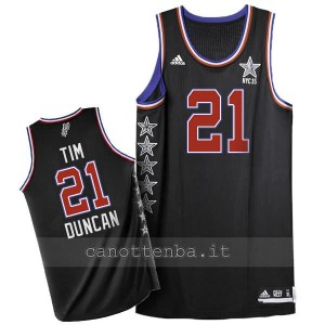 canotta nba tim duncan #21 nba all star 2015 nero
