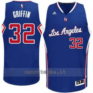 Canotta blake griffin #32 los angeles clippers 2014-2015 blu