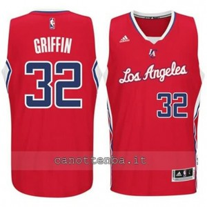 Canotta blake griffin #32 los angeles clippers 2014-2015 rosso
