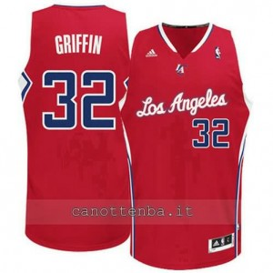 Canotta blake griffin #32 los angeles clippers revolution 30 rosso