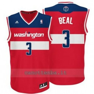 Canotta bradley beal #3 washington wizards revolution 30 rosso