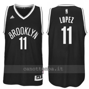 Canotta brook lopez #11 brooklyn nets revolution 30 nero