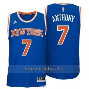 Canotta carmelo anthony #7 new york knicks 2014-2015 blu