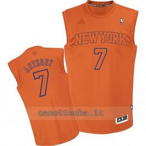 Canotta carmelo anthony #7 new york knicks moda arancia