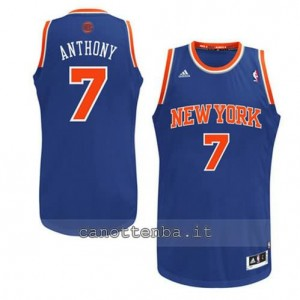 Canotta carmelo anthony #7 new york knicks revolution 30 blu