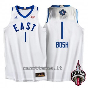 Canotta chris bosh #1 nba all star 2016 bianca