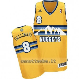 Canotta danilo gallinar #8 denver nuggets revolution 30 giallo
