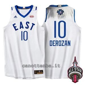 Canotta demar DeRozan #10 nba all star 2016 bianca