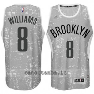 Canotta deron williams #8 brooklyn nets lights grigio