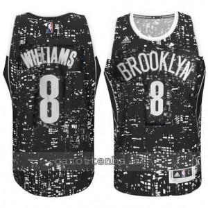 Canotta deron williams #8 brooklyn nets lights nero