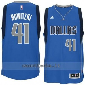 Canotta dirk nowitzki #41 dallas mavericks 2014-2015 blu
