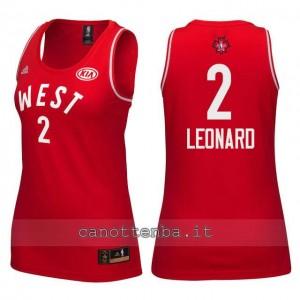 Canotta donna nba all star 2016 kawhi leonard #2 rosso
