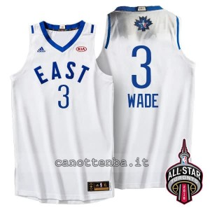 Canotta dwyane wade #3 nba all star 2016 bianca