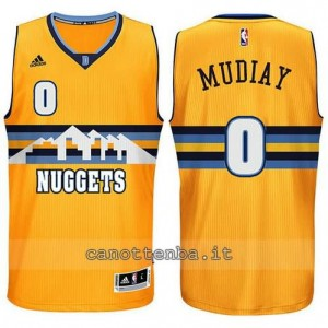 Canotta emmanuel mudlay #0 denver nuggets alternato giallo