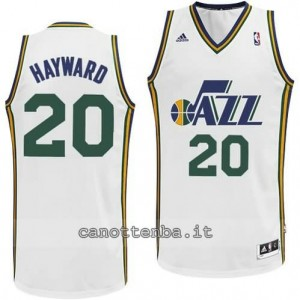 Canotta gordon hayward #20 utah jazz revolution 30 bianca