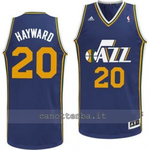 Canotta gordon hayward #20 utah jazz revolution 30 blu