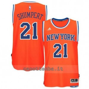 Canotta iman shumpert #21 new york knicks 2015 swingman arancia
