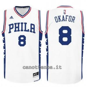 Canotta jahlil okafor #8 philadelphia 76ers 2015-2016 bianca