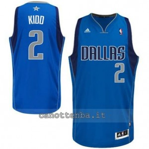 Canotta jason kidd #2 dallas mavericks revolution 30 blu
