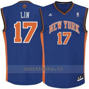 Canotta jeremy lin #17 new york knicks revolution 30 blu