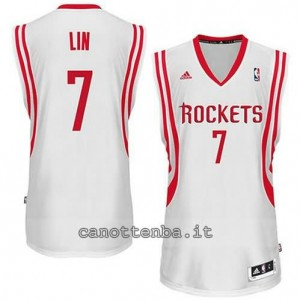 Canotta jeremy lin #7 houston rockets revolution 30 bianca