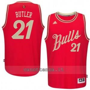 Canotta jimmy butler #21 chicago bulls natale 2015 rosso