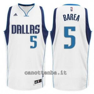 Canotta jj barea #5 dallas mavericks 2015 bianca