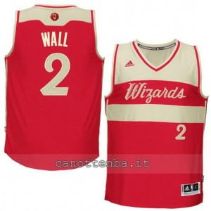 Canotta john wall #2 washington wizards natale 2015 rosso