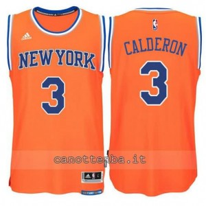Canotta jose calderon #3 new york knicks 2015 swingman arancia