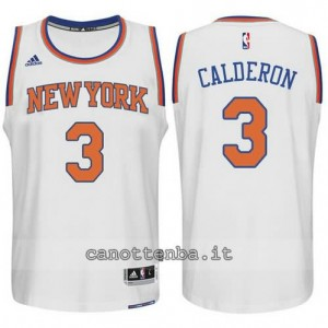 Canotta jose calderon #3 new york knicks 2015 swingman bianca