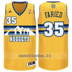 Canotta kenneth faried #35 denver nuggets swingman giallo