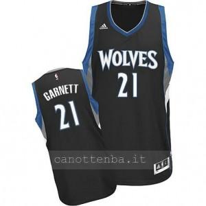 Canotta kevin garnett #21 minnesota timberwolves 2014-2015 nero